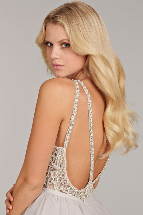 Hayley Paige 6413 Dori Back Detail