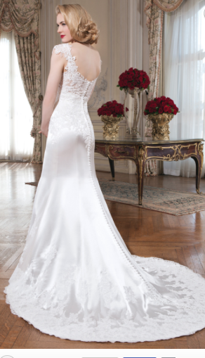 Justin Alexander Lace and Satin Dress